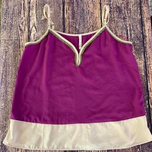 Willow & Clay Color block Tank - Size S